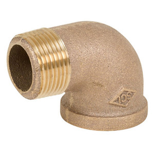 Smith Cooper 125# Bronze Lead-Free 1 1/2 in. 90° Street Elbow Fitting - Threaded