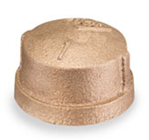 Smith Cooper 125# Bronze Lead-Free 4 in. Cap Fitting - Threaded