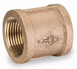 Smith Cooper 125# Bronze Lead Free 1 in. Coupling Fitting - Threaded