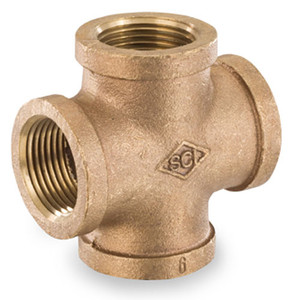 Smith Cooper 125# Bronze Lead-Free 1 1/2 in. Cross Fitting - Threaded