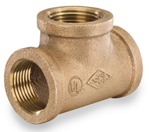 Smith Cooper 125# Bronze Lead-Free 1 in. Tee Fitting - Threaded