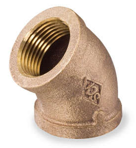 Smith Cooper Bronze 4 in. 45° Elbow Fitting - Threaded