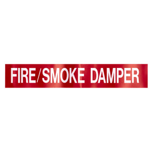 "Marking Services Self-Adhesive Pipe Markers - Legend ""Fire/Smoke Damper"""