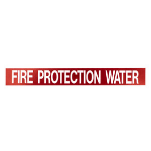 "Marking Services Self-Adhesive Pipe Markers - Legend ""Fire Protection Water"""