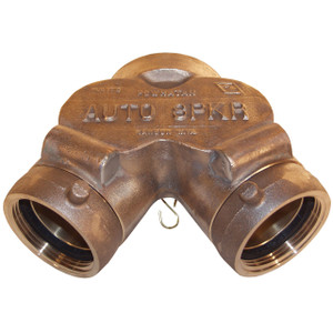 Dixon  3 in. NYFD  x 4 in. NPT Auto-Sprinkler Double Clapper Siamese Connections Back Outlet