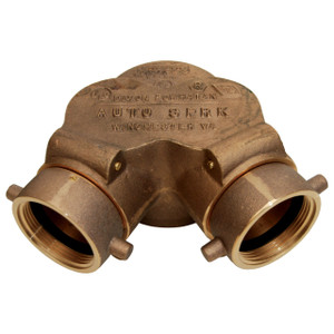 Dixon  2-1/2 in. NH (NST) x 4 in. NPT Auto Sprinkler Double Clapper Siamese Connection Bottom Outlet