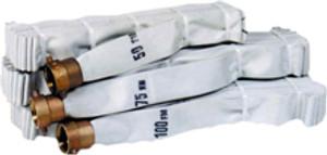 Key Fire Hose 1 1/2 in. Rack & Reel Hose w/ NPSH Brass Pin Lug Couplings