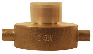 Dixon 2 1/2 in. NYFD Brass Pin Lug Hydrant Adapter