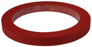 Dixon 1 in. PTFE (FEP) Encapsulated Silicone Cam & Groove Gasket (Translucent / Red)