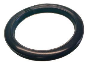 Dixon 1 in. PTFE (FEP) Encapsulated Viton Cam & Groove Gasket (Translucent / Black)