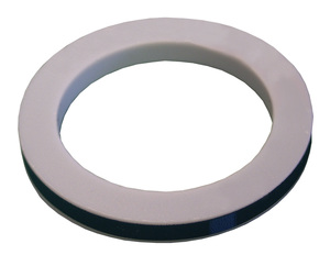Dixon 1 in. PTFE (TFE) Envelope with Nitrile Rubber Filler Cam & Groove Gasket (White / Black)