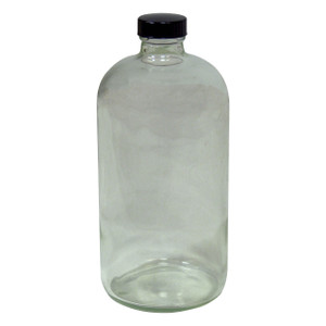 HAZMATPAC 16 oz. Boston Round Glass Bottles w/ PVC Coating