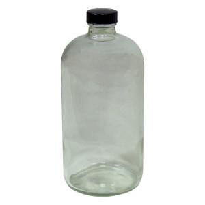HAZMATPAC 32 oz. Boston Round Glass Bottles w/ PVC Coating