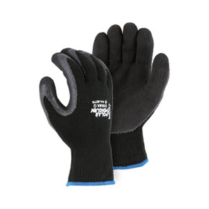 Majestic Polar Penguin Black Terry Lined ANSI Winter/Freezer Gloves, 12 Pairs/Pack
