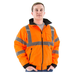 Majestic ANSI 3 Orange Bomber Jackets