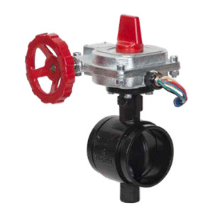 Smith Cooper 67BFVGET Series Fire Protection Butterfly Valves w/ EPDM Seals & Disc,Grooved End