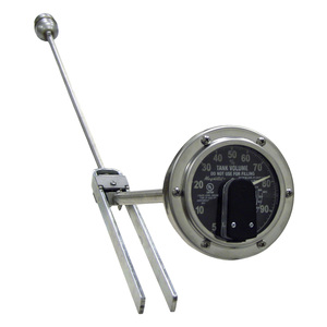 Rochester Gauge M6300 Series 4 in. Magnetel Rough Rider Liquid-Level Gauges with Fluorescent R3D Remote Ready Dial