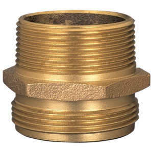 Dixon Brass 1 1/2 in. NPT x 2 1/2 in. NH Male to Male Hex Nipples
