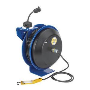 Coxreels EZ-PC Series Power Cord Reel w/ Spring Rewind & Angle Light
