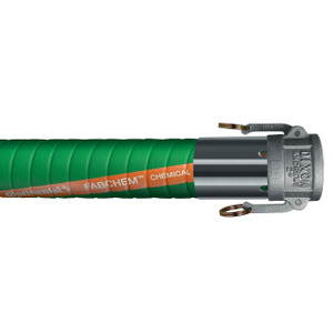 Continental ContiTech Fabchem 4 in. 200 PSI Chemical Transfer Hose w/ Stainless C x C Ends