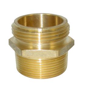 JME 2 1/2 in. NH x 3 in. NPT Brass Double Male Hex Adapters