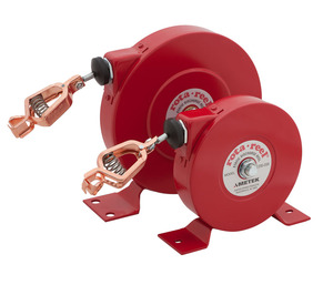 AMETEK Hunter Spring Rota-Reel Static Grounding/Bonding Reels with Yellow Hytrel Coated Galvanized Steel Cable