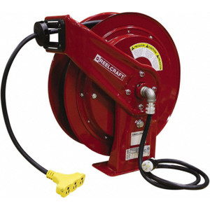 Reelcraft Series L70000 Heavy Duty Spring Power Cord Reels w/ Triple Outlet