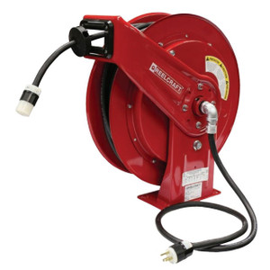 Reelcraft Series L70000 Heavy Duty Spring Power Cord Reels w/ Single Receptacle Outlet