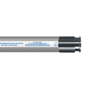 Novaflex 6500 Chlorobutyl Tube Connoisseurs Food & Beverage Hose  w/ Tri-Clamp Ends