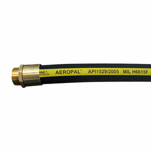 Continental ContiTech AEROPAL Type C 1 1/4 in. Regular Temp Aviation Fueling Hose Assemblies w/ Brass NPT Ends