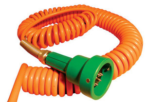 Scully Green Thermistor Plug & Coiled Cord w/ 4 J-Slot Pins & 10 Contact Pins for Scully Systems