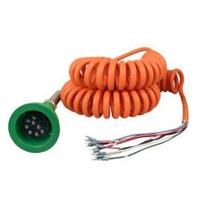 Scully Green Thermistor Plug & Coiled Cord w/ 2 J-Slot Pins & 8 Contact Pins for Scully System
