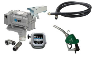 GPI GPRO Series 115V AC Cold Weather Transfer Pump Kit with Meter and Auto Nozzle - 20 GPM