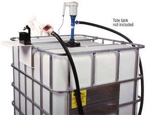 Liquidynamics 120V AC DEF Economical Pump System w/ Manual Nozzle for Tote Tank