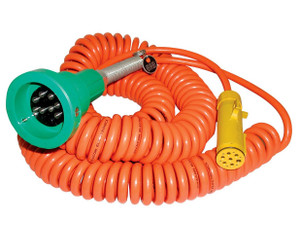 Civacon Green Thermistor Plug, Coiled Cord, and Yellow Break-Away Plug w/ 4 J Slot & 8 Contact Pins