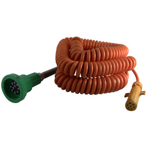 Civacon Green Thermistor Plug, Coiled Cord, and Yellow Break-Away Plug w/ 4 J Slot & 10 Contact Pins