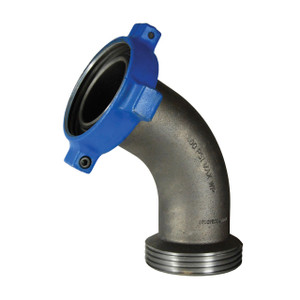 Dixon Fig. 206 4 in. One-Piece Female x Male Hammer Union 60° Elbow Adapter