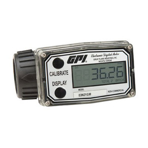 GPI A1 Series 1 in. NPT Commercial Grade Low Flow Nylon Meter - Gallons