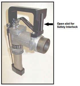 Fjord Aviation Handle Guards With Slot for Safety Interlock on OPW 295 Series 1 1/2 in. Spout Nozzles