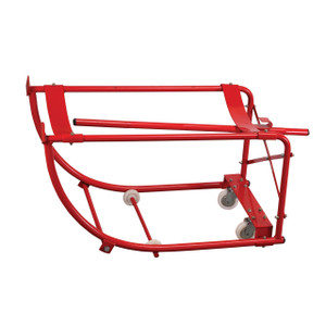 National Spencer Tilting Drum Cradle with Axle, Wheels, and Casters