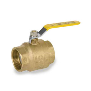 Smith Cooper 2 in. NPT Threaded Brass Ball Valve - Full Port