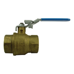 Morrison Bros. 691B Series 4 in. NPT Locking Brass Ball Valve - Full Port