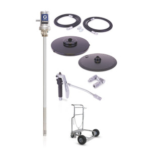 Graco LD Series 50:1 Air-Powered Grease Pump Package For 400 lb Drum w/ Cart