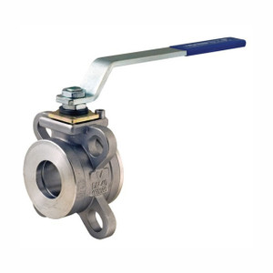 Dixon BV2IC Series 1 1/2 in. Stainless Steel Industrial Wafer Ball Valve