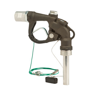 Husky Falcon 1 1/4 in. FNPT Manual Quick Disconnect Overwing Aircraft Fueling Nozzle w/ Round Spout