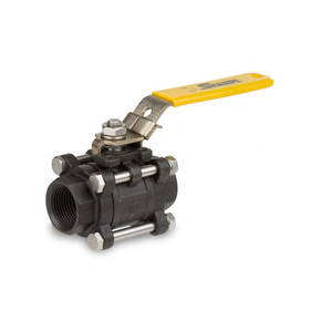 Smith Cooper 316 Carbon Steel 1000 WOG Full Port Threaded 3-Piece Ball Valve with Mounting Pad - Series 53034