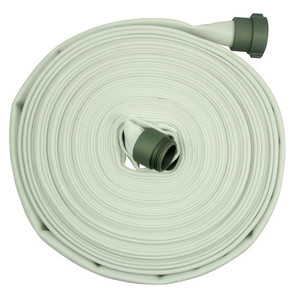 Fire/Mill 1 1/2 in. x 100 ft. 300# Single Jacket  Fire Hose w/ Aluminum NH (NST) Couplings