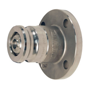 Dixon Bayloc Stainless Steel Dry Disconnect 4 in. Adapter x 3 in. 150# ASA Flange - FKM Seal