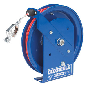 Coxreels SD-100-1 Static Discharge Spring Driven Cable Reel w/ 100 ft. Stainles Steel Cable