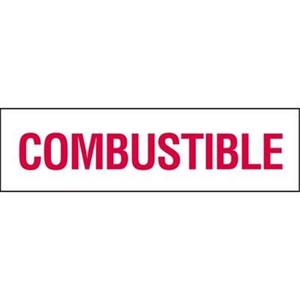 Combustible Vinyl Sticker 6 in. x 21 in.